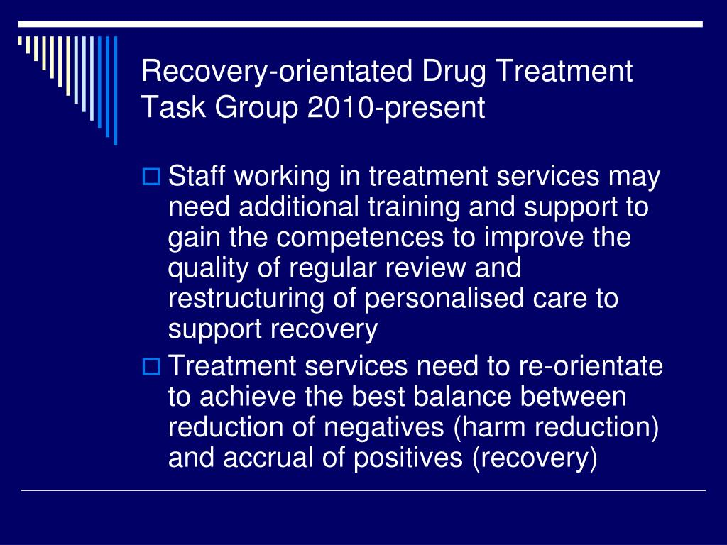 recovery orientated drug treatment expert group