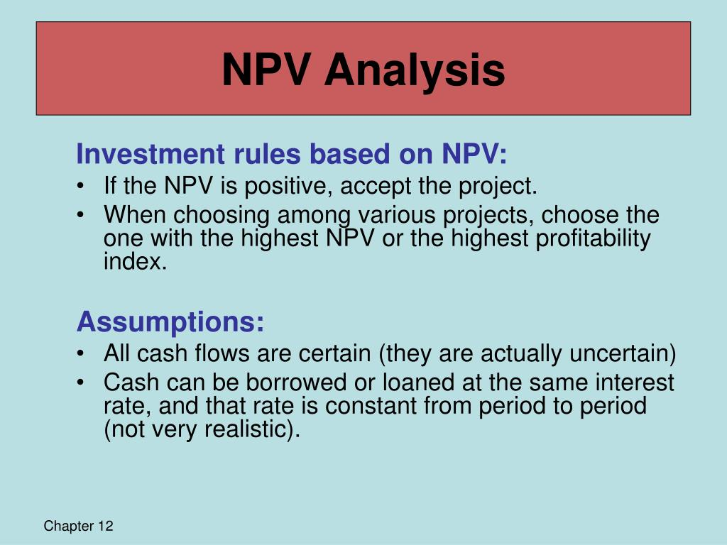 payback npv examples Net present value example you have the opportunity to purchase an office building you have a tenant lined up that will 3 payback npv@10% a -2000 +1000 +1000 +10000.