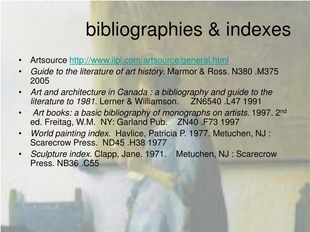bibliographies & indexes