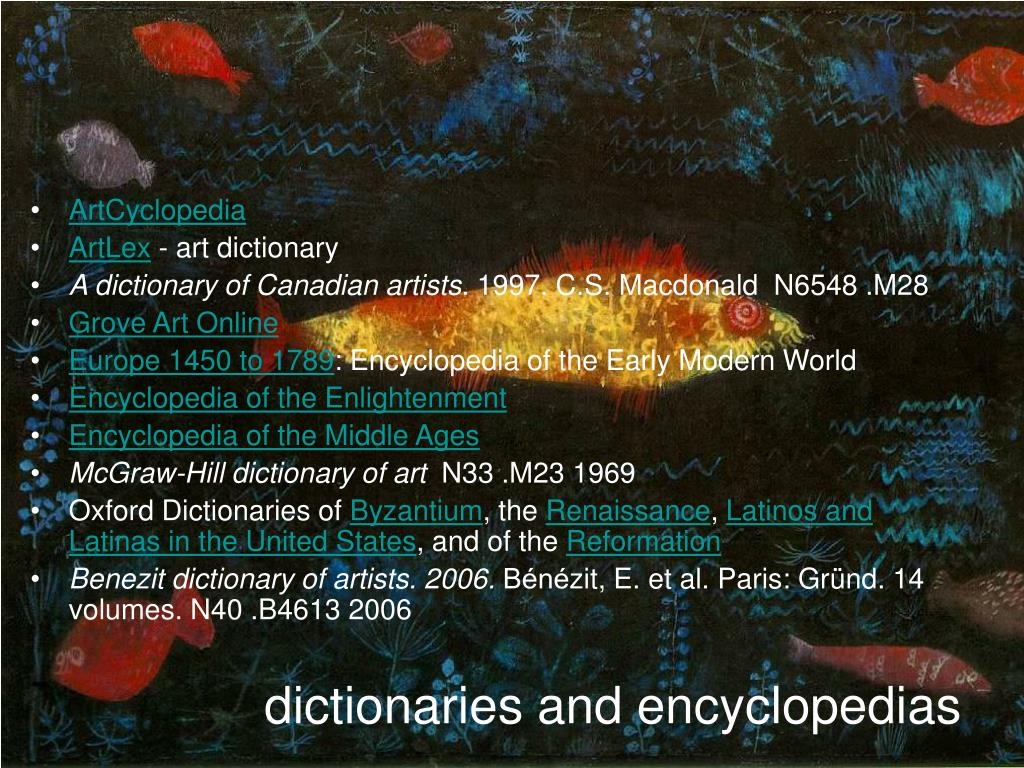 dictionaries and encyclopedias