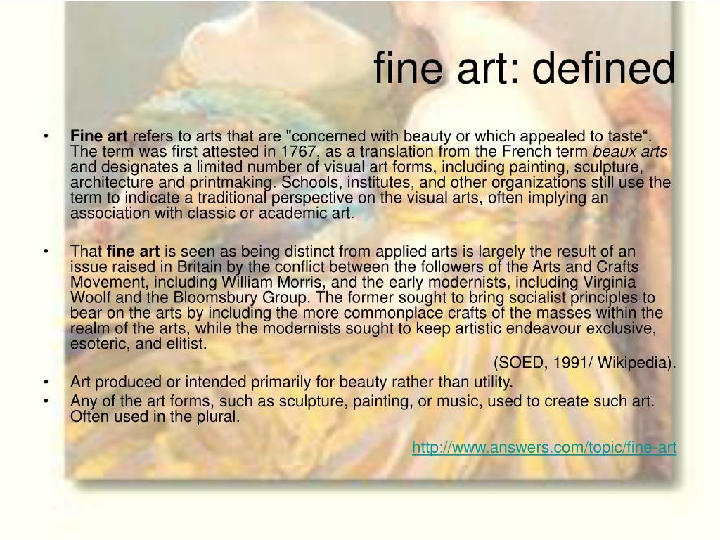 fine art: defined