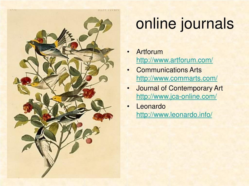 online journals