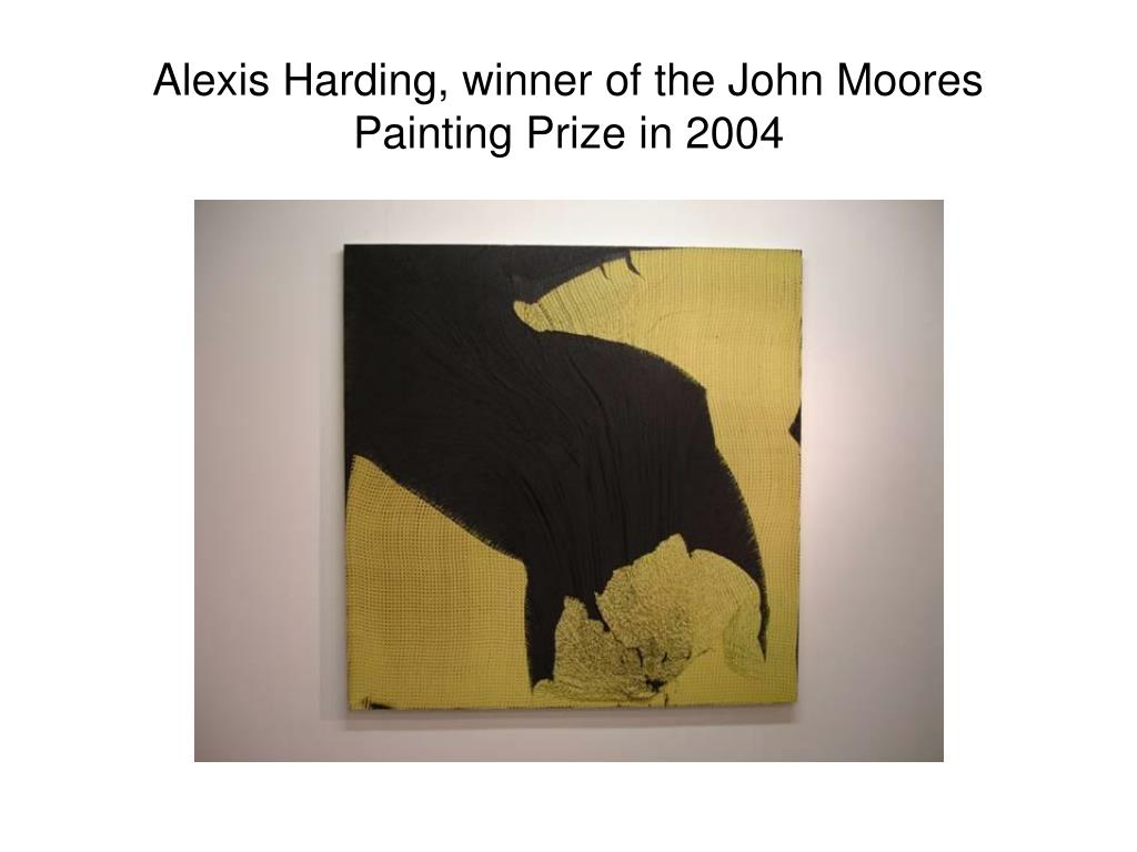 Alexis Harding, winner of the John Moores Painting Prize in 2004