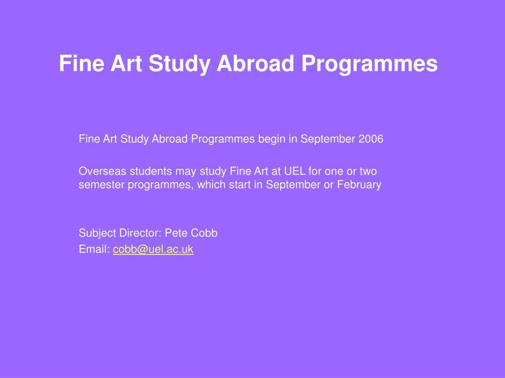 Fine Art Study Abroad Programmes
