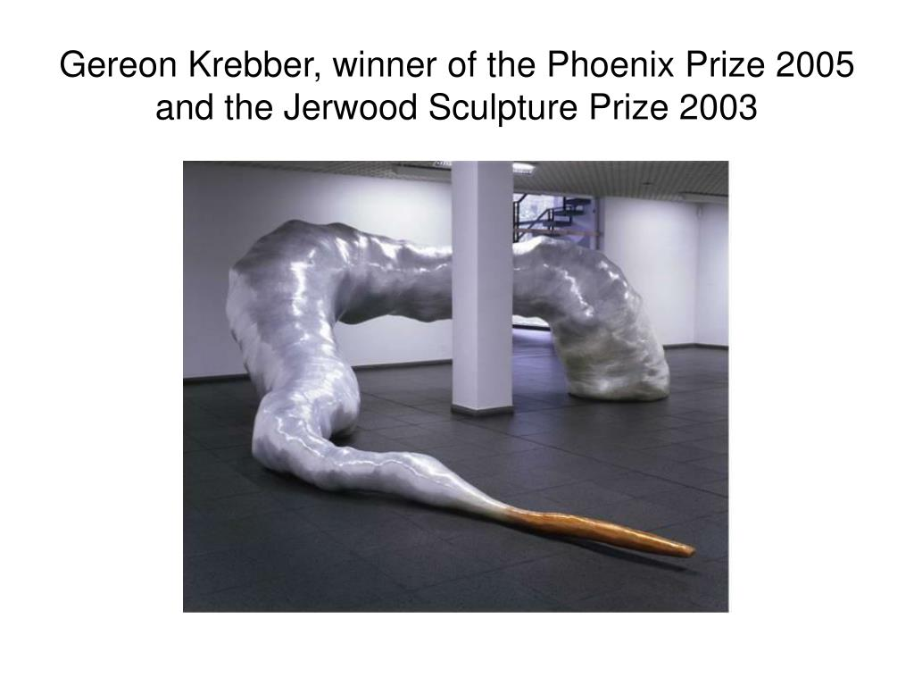 Gereon Krebber, winner of the Phoenix Prize 2005 and the Jerwood Sculpture Prize 2003