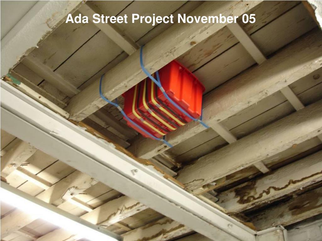 Ada Street Project November 05