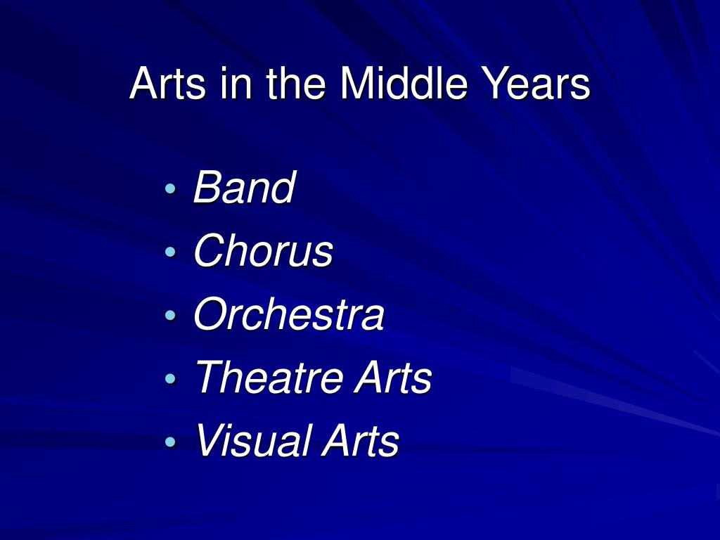 Arts in the Middle Years