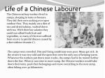 life of a chinese labourer