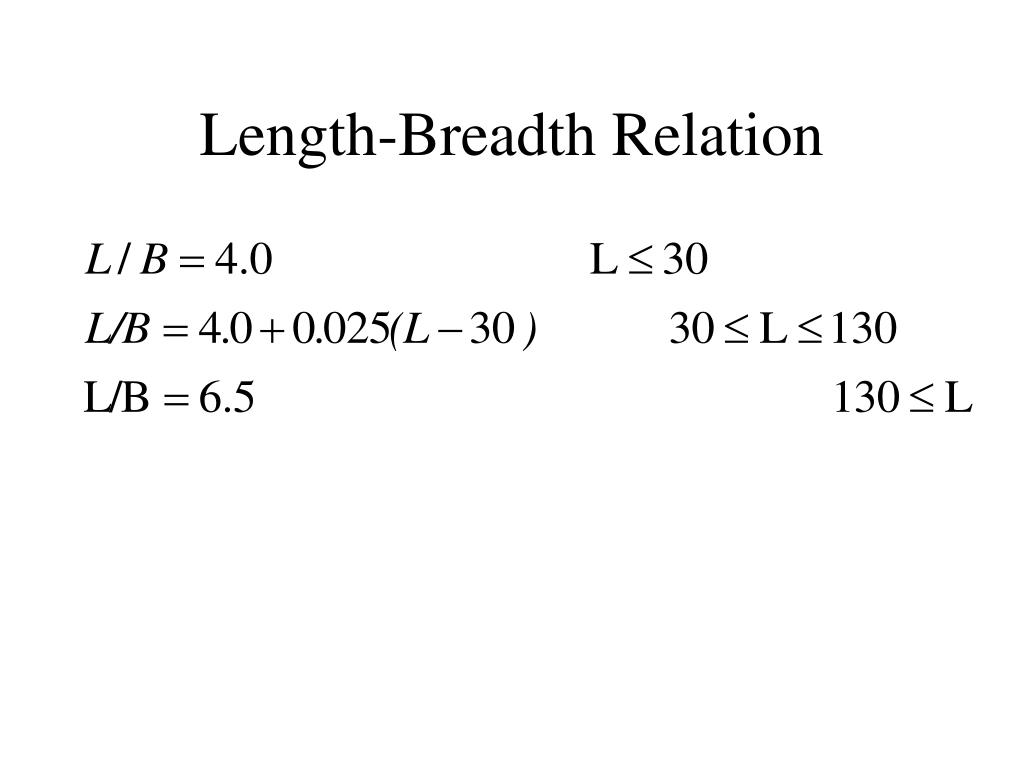 Length-Breadth Relation