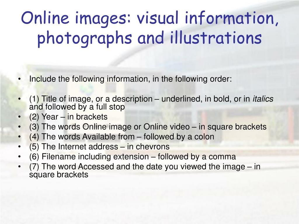 Online images: visual information, photographs and illustrations