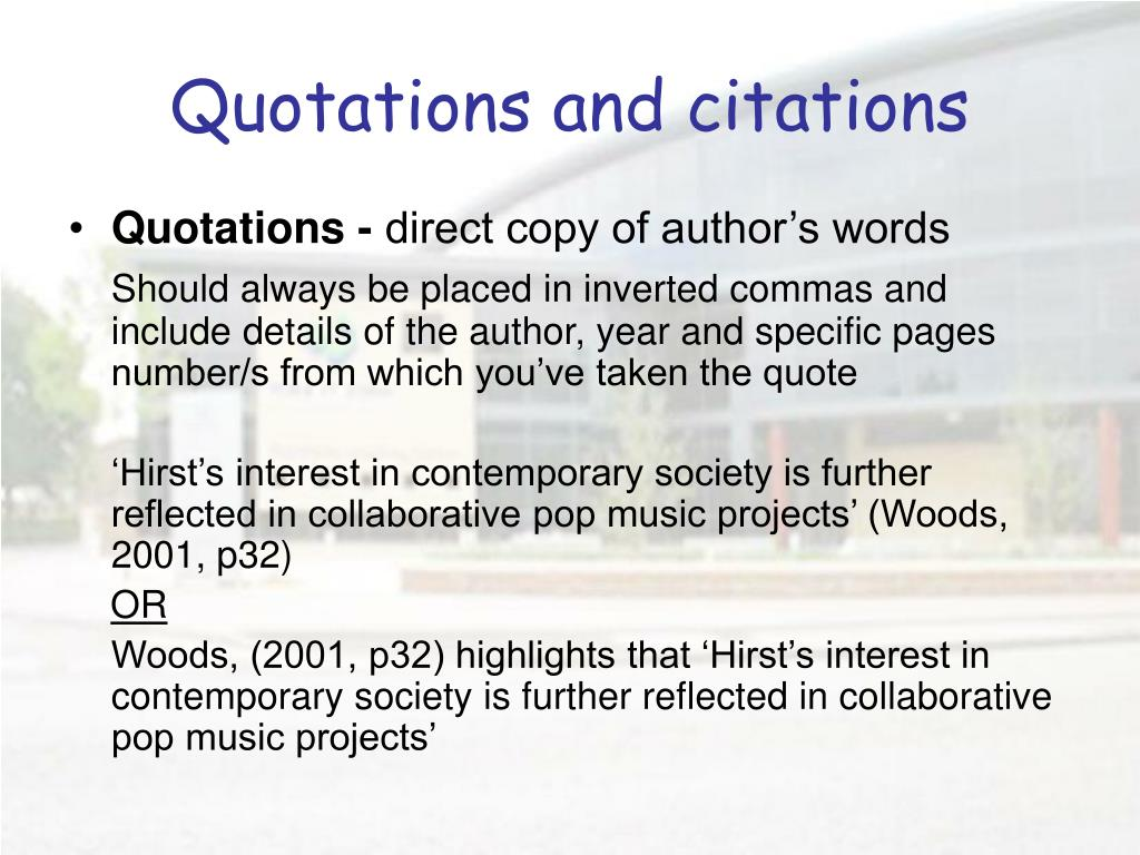 Quotations and citations