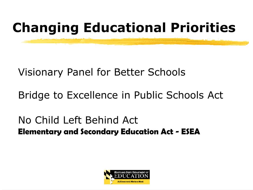 Changing Educational Priorities
