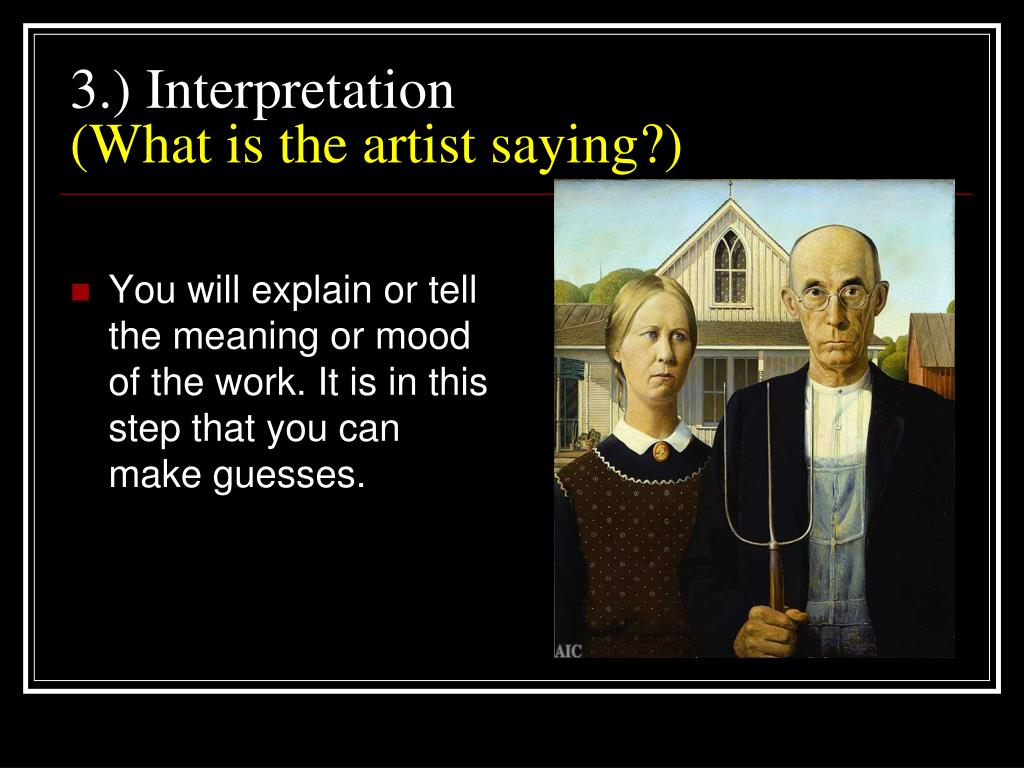 3.) Interpretation