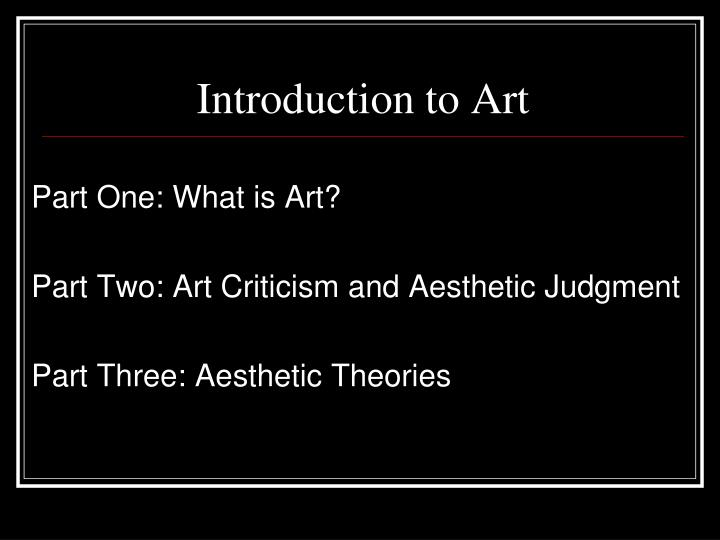 Introduction to art3