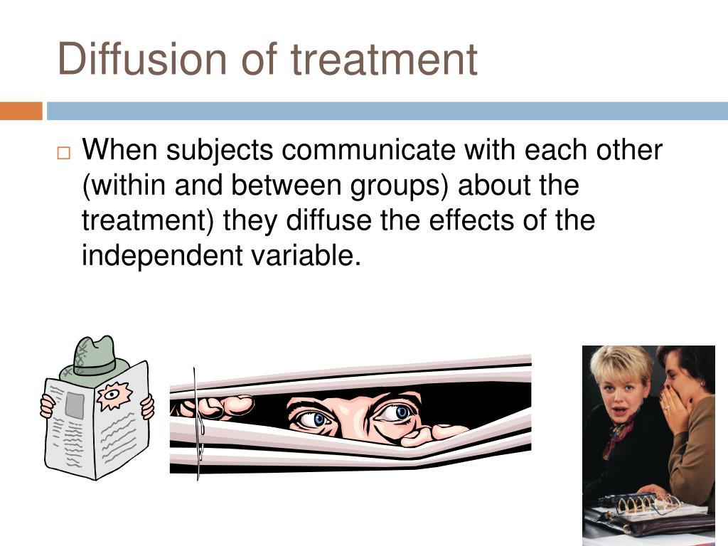 Diffusion of treatment
