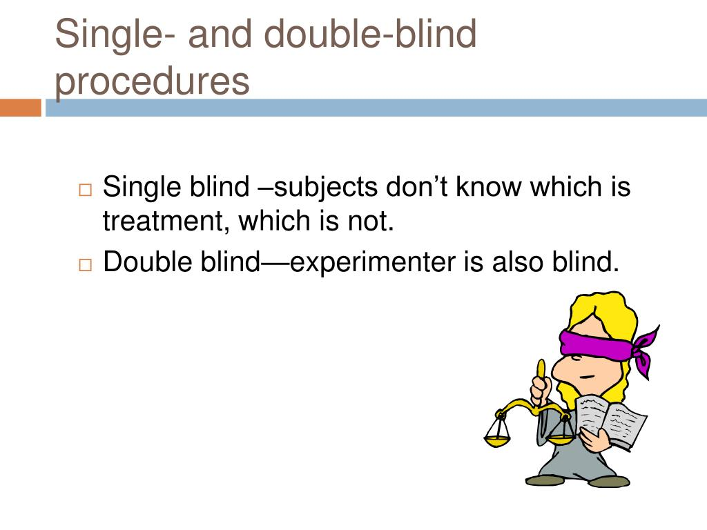 Single- and double-blind procedures