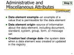 administrative and miscellaneous attributes23