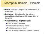 conceptual domain example