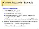 content research example