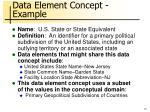 data element concept example