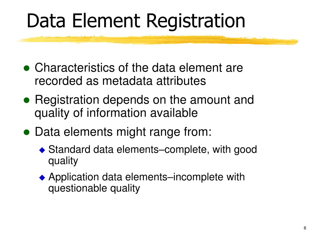 Data Element Registration