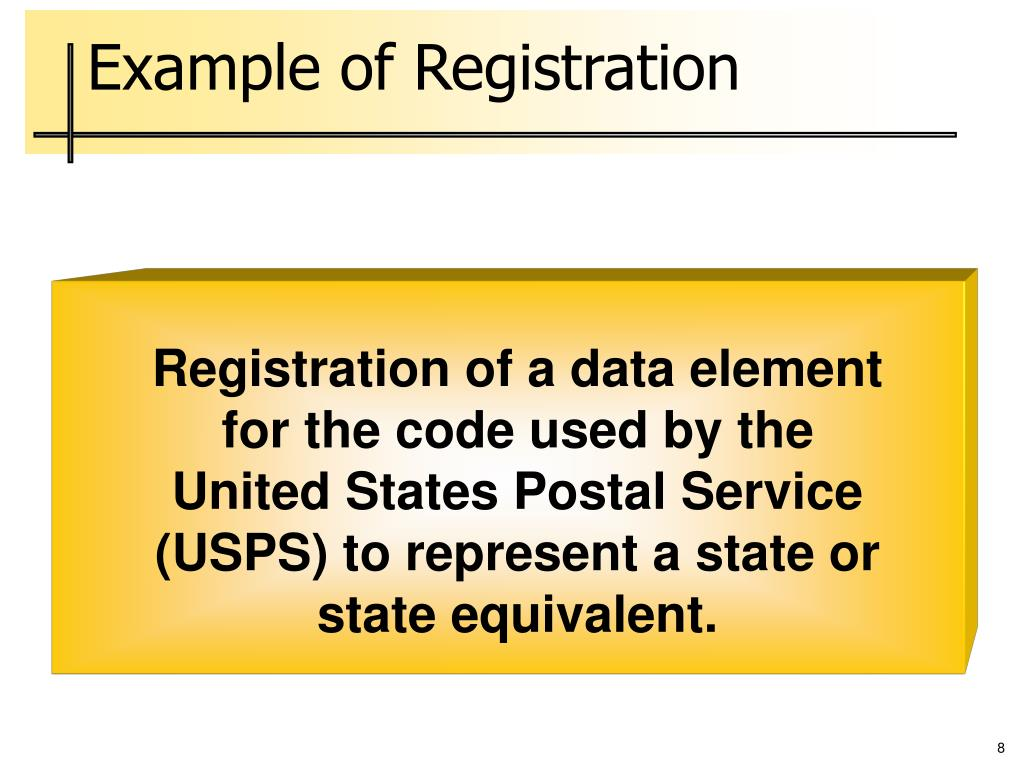 Example of Registration
