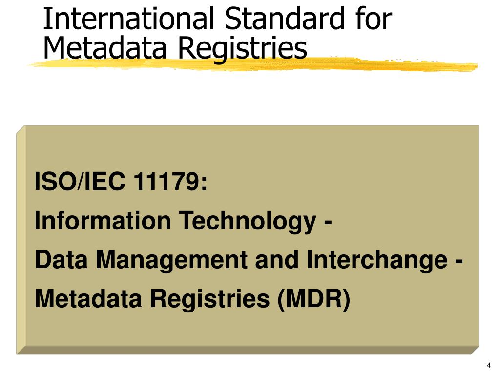 International Standard for Metadata Registries
