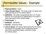 permissible values example