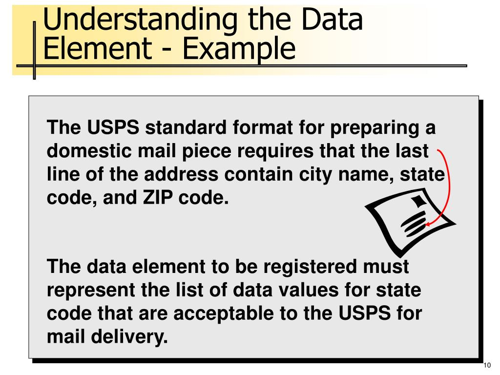Understanding the Data Element - Example