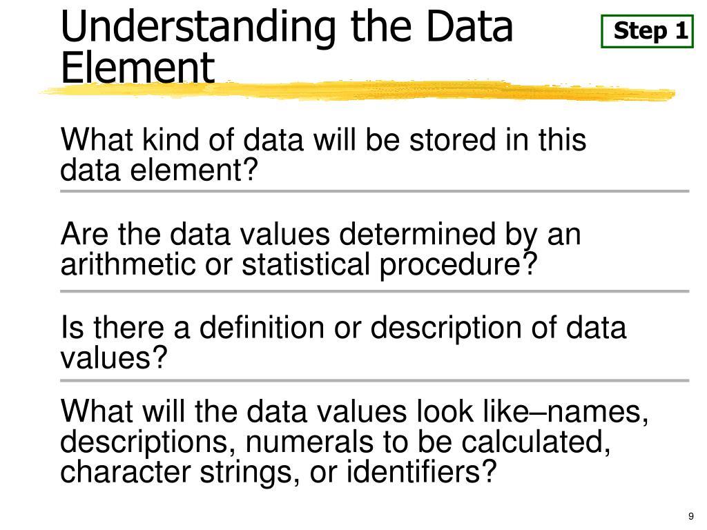 Understanding the Data Element