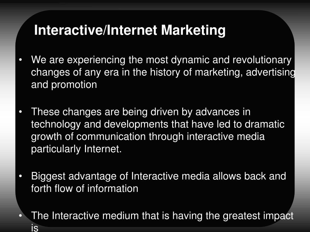 Interactive/Internet Marketing