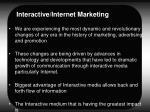 interactive internet marketing