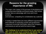 reasons for the growing importance of imc9