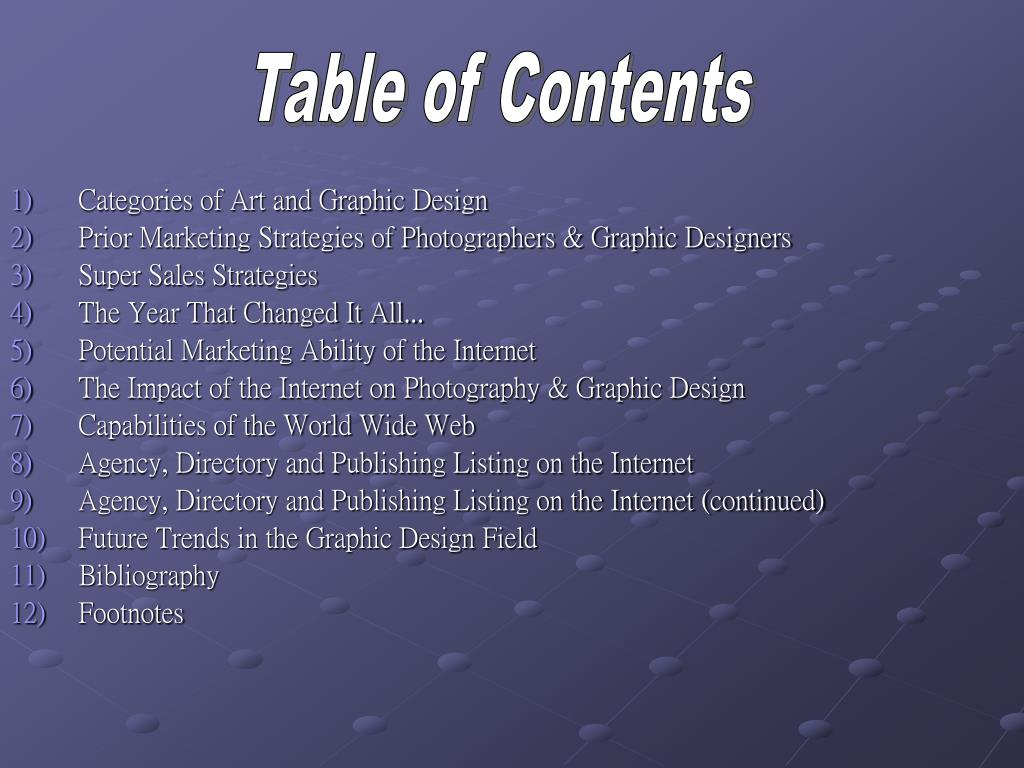 Categories of Art and Graphic Design