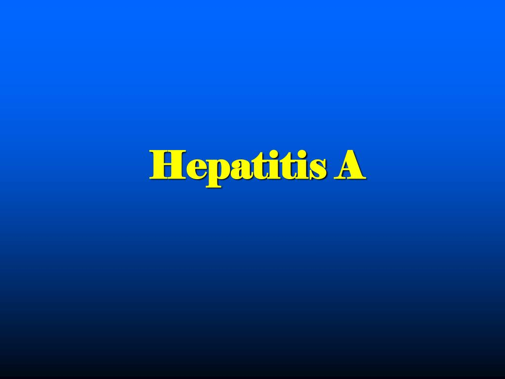 Hepatitis A
