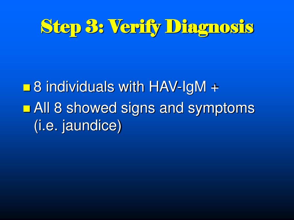 Step 3: Verify Diagnosis