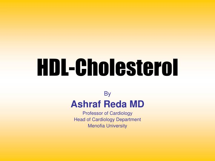 Hdl cholesterol