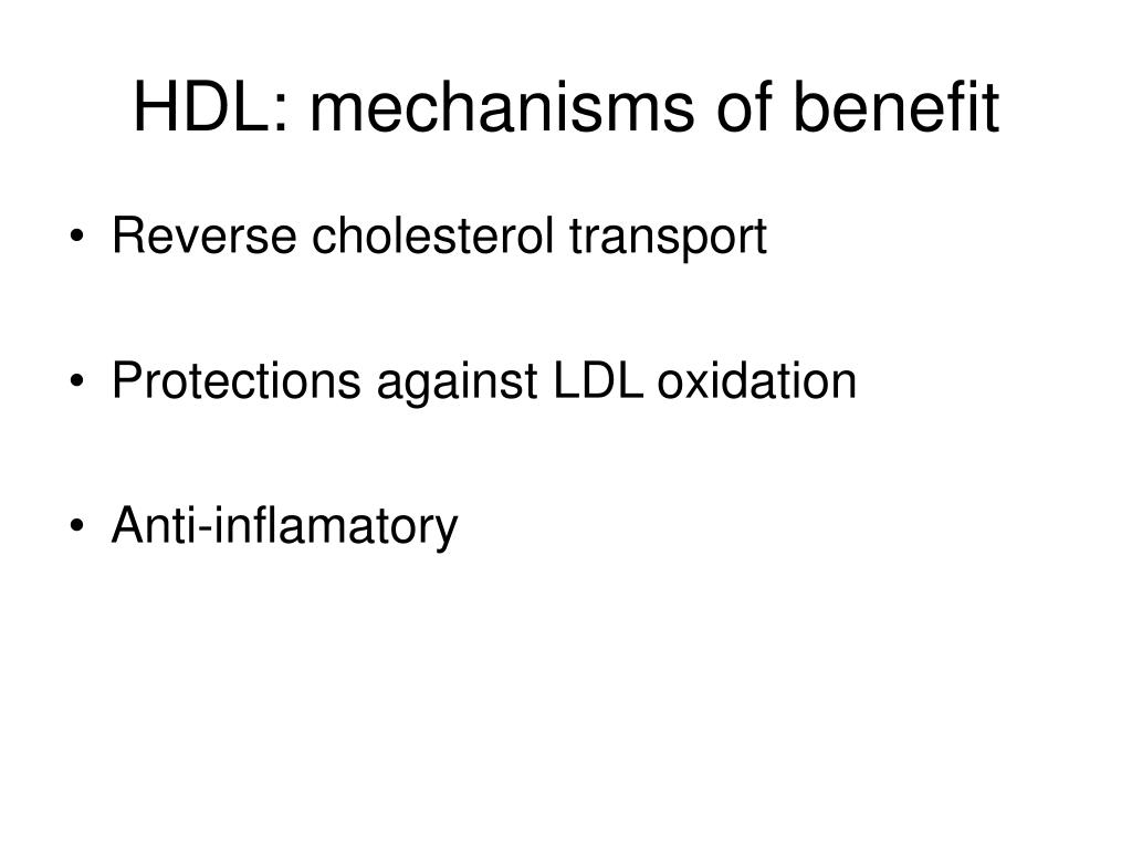 HDL: mechanisms of benefit