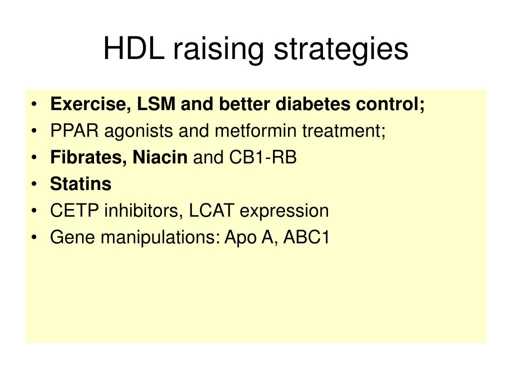 HDL raising strategies