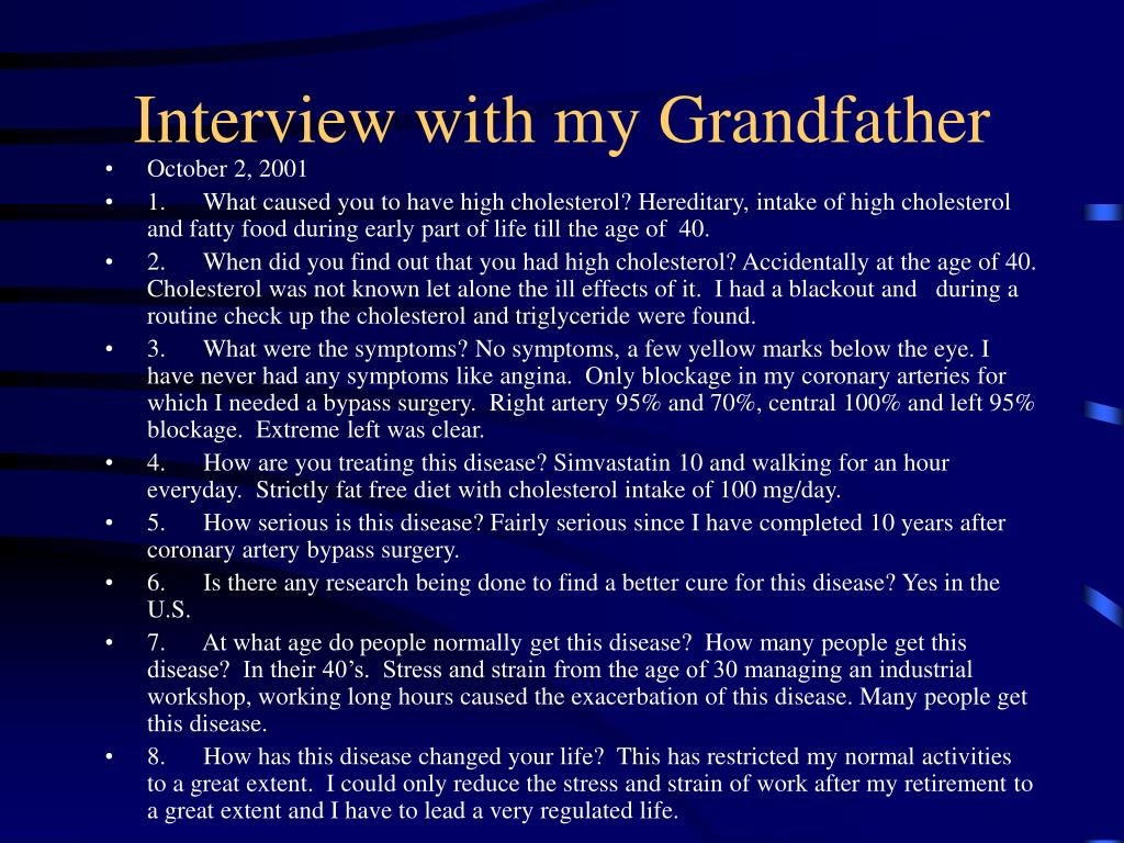 Interview with my Grandfather