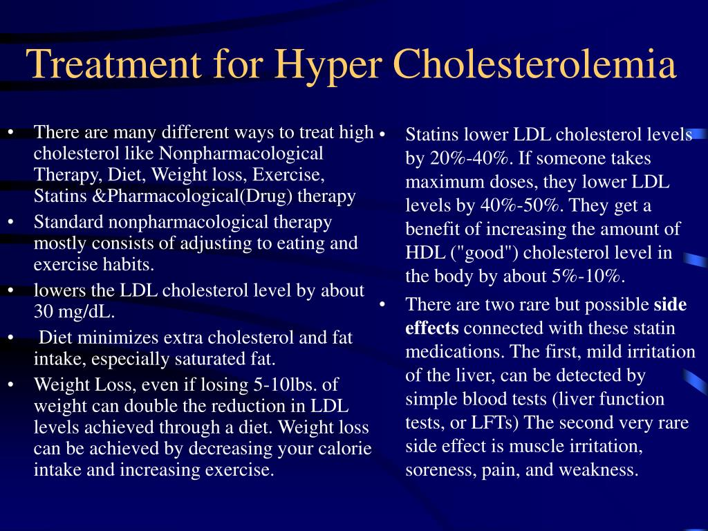 There are many different ways to treat high cholesterol like
