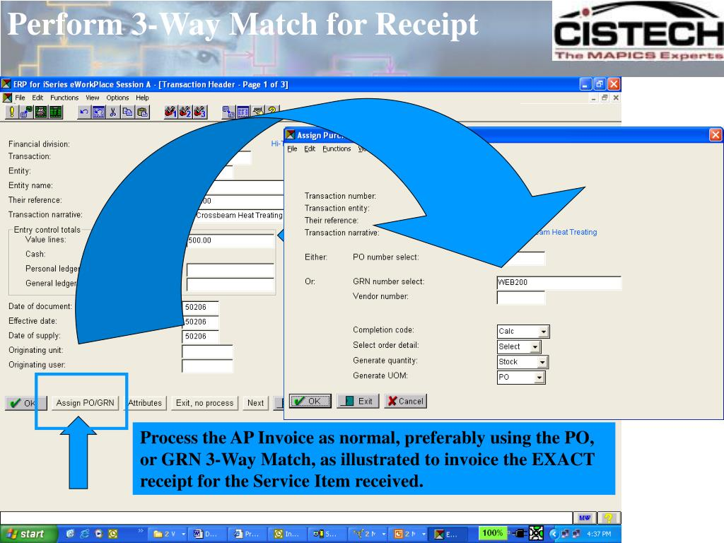 Perform 3-Way Match for Receipt