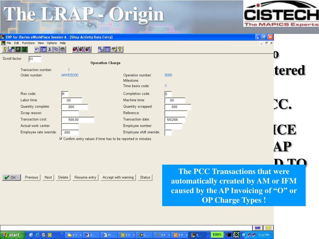 The LRAP - Origin