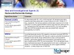 new and investigational agents 3 nucleoside nucleotide analogs