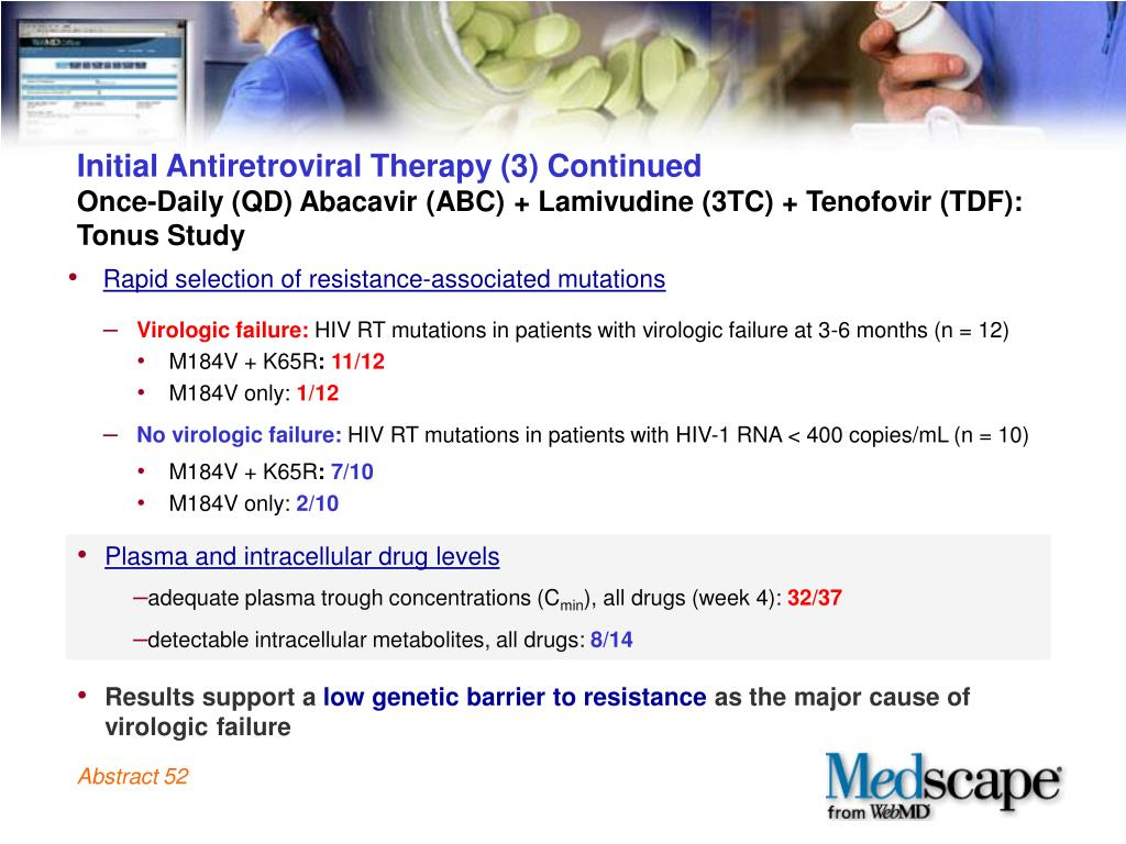 Initial Antiretroviral Therapy (3) Continued
