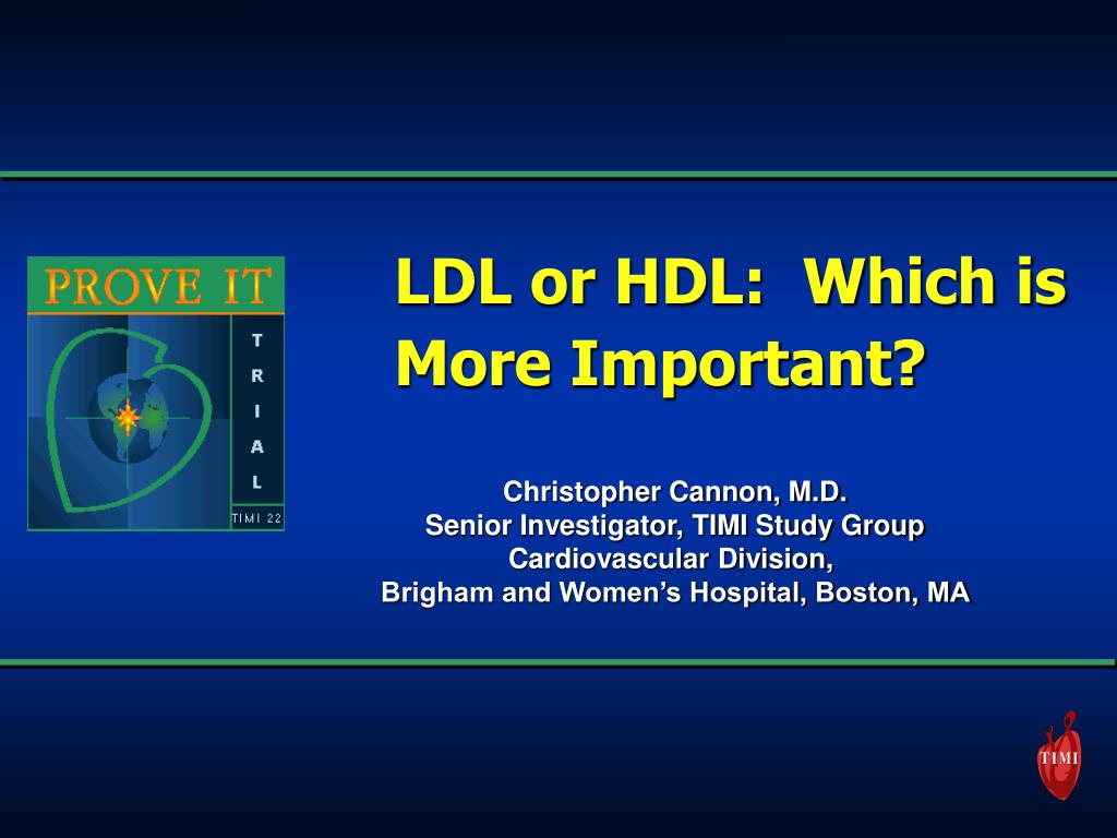 LDL or HDL:  Which is More Important?