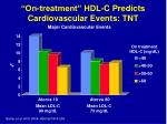 on treatment hdl c predicts cardiovascular events tnt