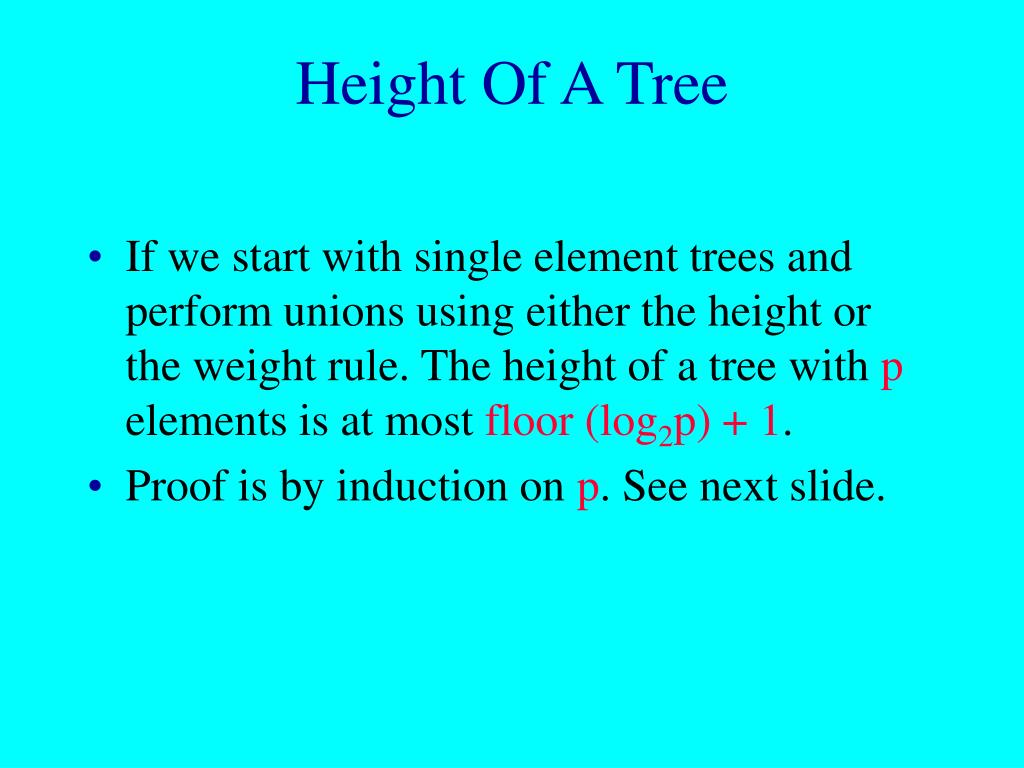 Height Of A Tree