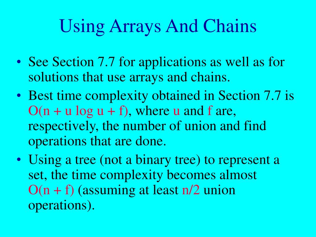 Using Arrays And Chains