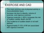 exercise and cad34